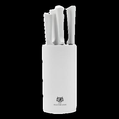 Zestaw noży w bloku MARCO WHITE 5-elementowy