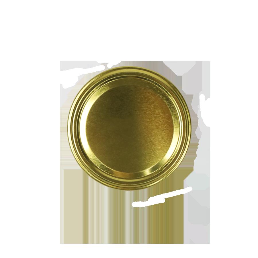 Wieczko do słoika fi82 6 zaczepów złote
