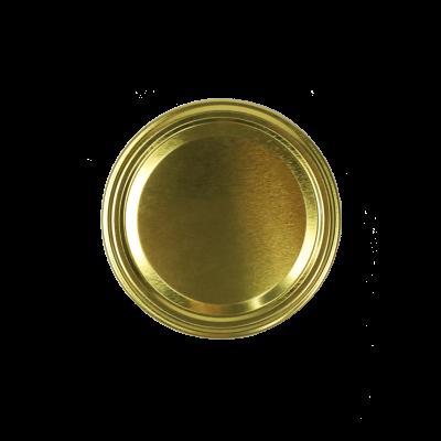 Wieczko do słoika fi89 białe/złote