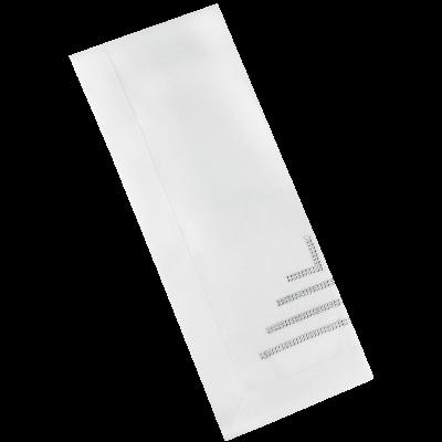 Bieżnik biały CRYSTAL 40x140 cm