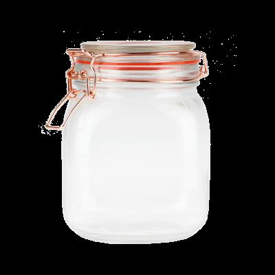 Pojemnik szklany z klamerką TOPFANN 1l