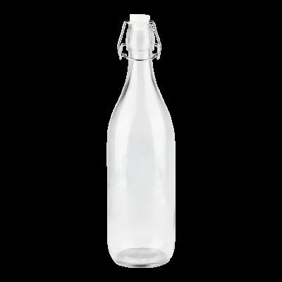Butelka szklana z klamerką 1000ml
