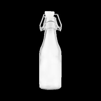 Butelka szklana z klamerką 250 ml
