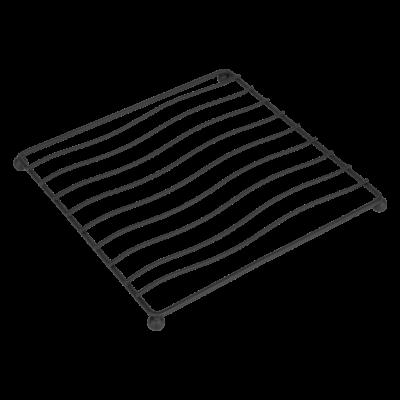 Podstawka pod garnek kwadratowa czarna 17x17x1,5cm