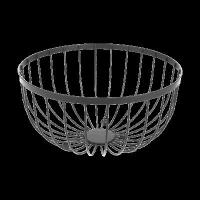 Koszyk na owoce czarny 25x13 cm