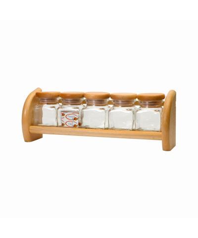 Półka z 5 szklanymi pojemnikami PRESIDENT LINE - 3