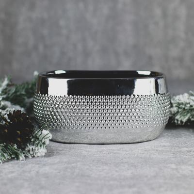 Osłonka ceramiczna 21x11cm srebrna