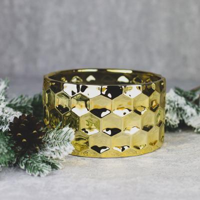 Osłonka ceramiczna 18,5x18,5cm złota