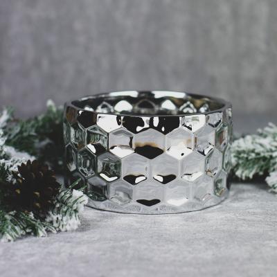 Osłonka ceramiczna 18,5x18,5cm srebrna