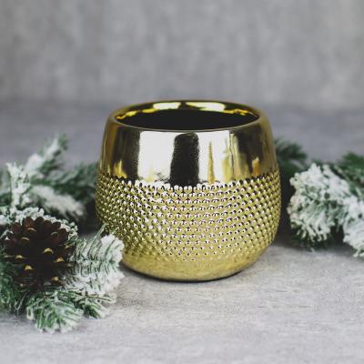 Osłonka ceramiczna 12,5x12,5cm złota