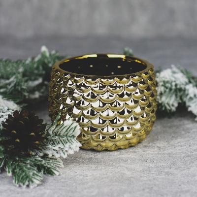 Osłonka ceramiczna 13x13cm złota
