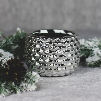 Osłonka ceramiczna 13x13cm srebrna