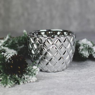 Osłonka ceramiczna 14x14cm srebrna