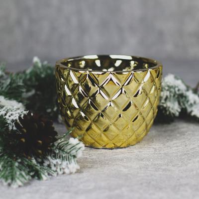 Osłonka ceramiczna 14x14cm złota