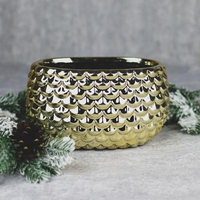 Osłonka ceramiczna 20x12cm złota