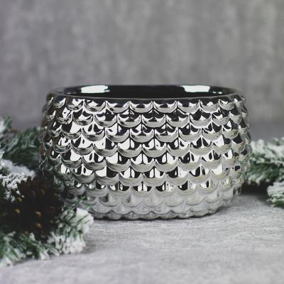 Osłonka ceramiczna 20x12cm srebrna