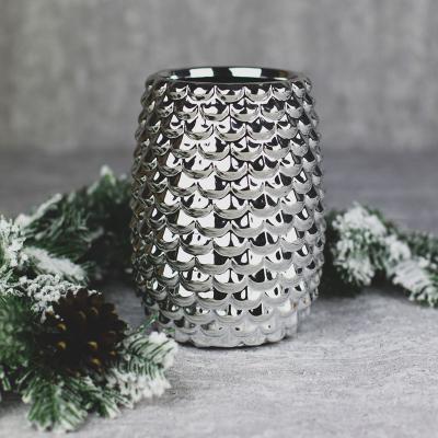 Wazon ceramiczny 11x11cm srebrny