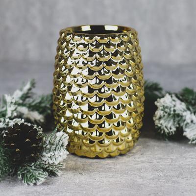 Wazon ceramiczny 11x11cm złoty