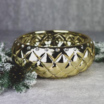 Osłonka ceramiczna 27x26cm złota