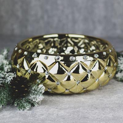 Osłonka ceramiczna 27x26cm złota cyrkonie