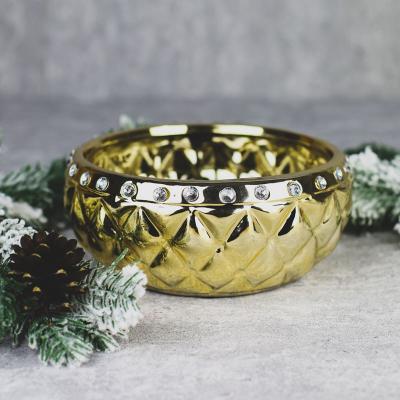 Osłonka ceramiczna 20x20cm złota