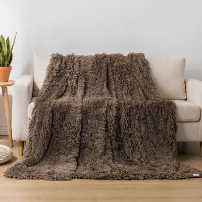 Koc pluszowy COTTON WORLD 160x200 cm brąz
