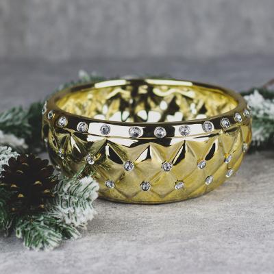 Osłonka ceramiczna 20x20cm złota cyrkonie