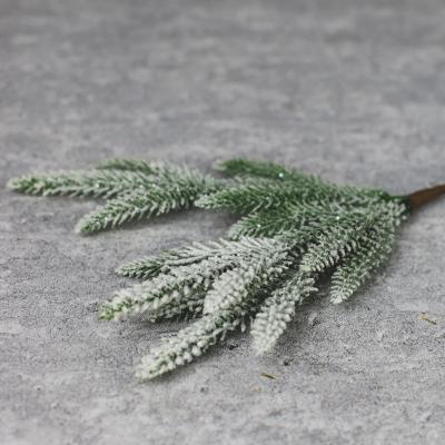 Gałązka ozdobna ośnieżona 32cm
