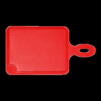 Deska kuchenna z rączką czerwona