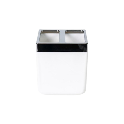 Pojemnik na szczoteczki Toskania biały