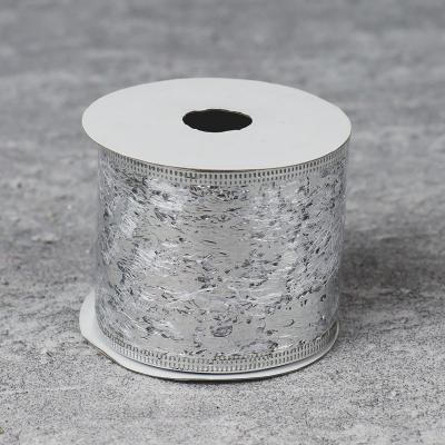 Wstążka 2,7m srebrna