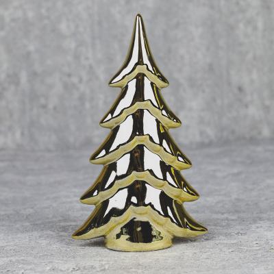 Choinka z ceramiki 21cm złota