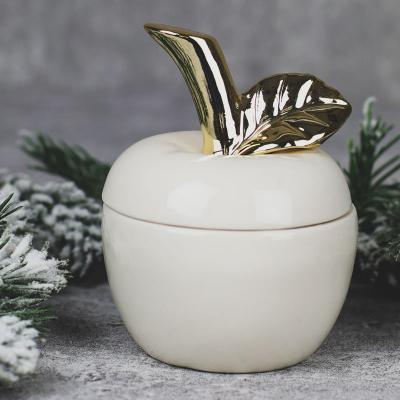 Jabłko ceramiczne szkatułka małe