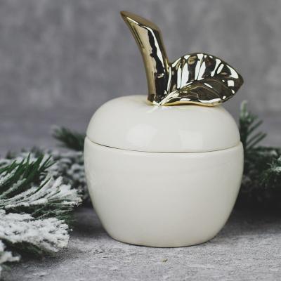 Jabłko ceramiczne szkatułka duże