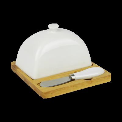 Porcelanowa maselnica z nożykiem 10,5cm