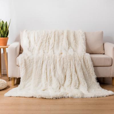 Koc pluszowy COTTON WORLD 160x200 cm biały