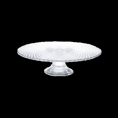 Patera szklana na ciasto JASŁO 31,5 cm romby