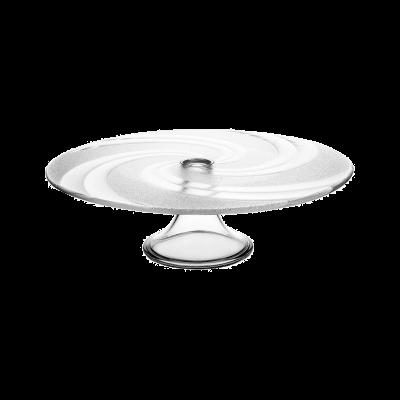 Patera szklana na ciasto JASŁO 31,5 cm wir
