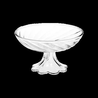 Salaterka szklana na nodze JASŁO 17,5 cm spirala