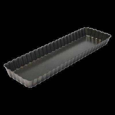 Forma prostokątna do tarty z wyjmowanym dnem 35x11x2,5 cm