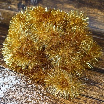 Łańcuch choinkowy ⌀100 mm 6m złoty
