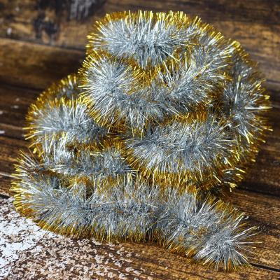 Łańcuch choinkowy ⌀100 mm 6m srebrno-złoty
