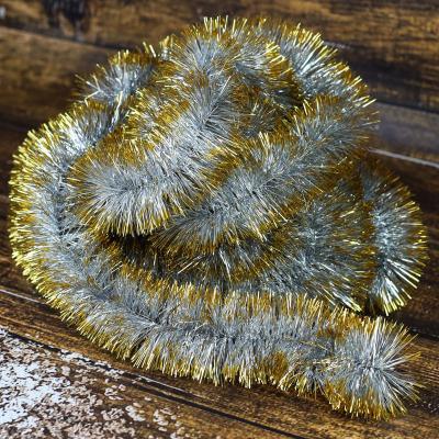 Łańcuch choinkowy ⌀70 mm 6m srebrno-złoty