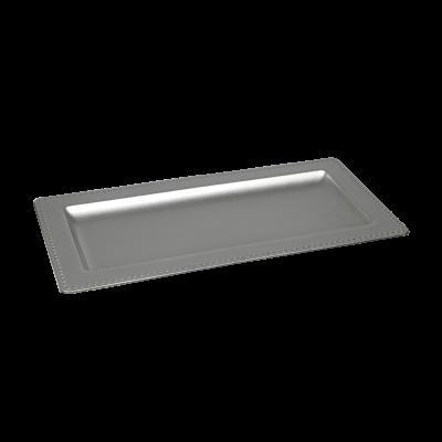 Podstawka dekoracyjna 36x18x2 cm srebrna