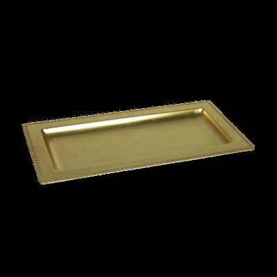 Podstawka dekoracyjna 36x18x2 cm złota
