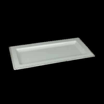 Podstawka dekoracyjna 36x18x2 cm biało-złota