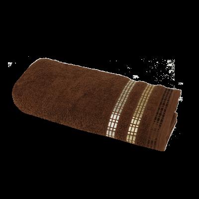 Ręcznik Luxury brązowy 70x140 cm