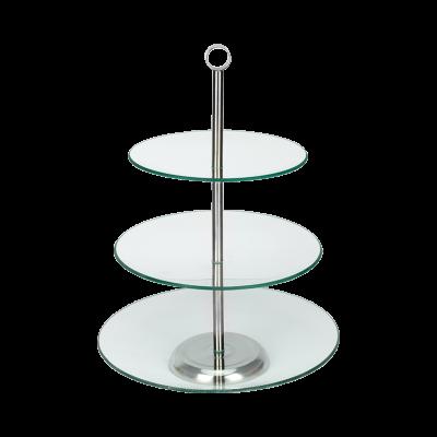 Patera szklana okrągła TOPFANN 3-poziomowa