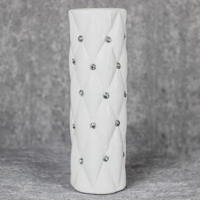 Wazon ceramiczny walec 29,5 cm biały
