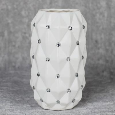 Wazon ceramiczny 24 cm biały